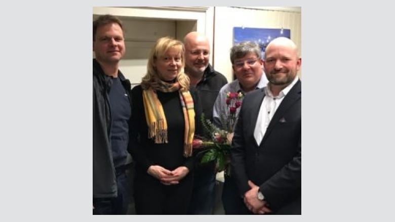 v.l.n.r.: Jörg Merker, Christiane Berg (Mdl), Carsten Jantzen, Dr. Hans-Heinrich Uhlmann, Wolfgang Molitor